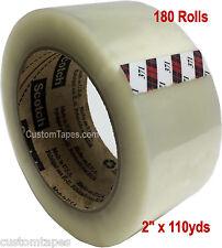 "180 Rolls 3M 371 Scotch brand Clear Carton Sealing Tape 2"" x 110yd  -  $60/case!"