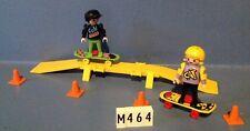 (M464) playmobil rampe de skate et enfants ref