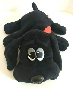 Pound Puppies Plush 2014 Black Dog w Rescue Red Collar by Hasbro