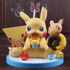 Banpresto Cartoon Cute Pikachu Tea Party PVC Anime Action Figure Collectible Mod