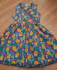 Monsoon Blue Summer Dress with Pineapple Print Age 11