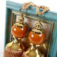 2 Pcs Gold Color Bedroom Curtain Tieback Beads All Match Elegant Hanging Holdbac