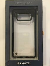 Granite Fitted Protective Case Cover for Galaxy Note 8 Clear/Black NEW