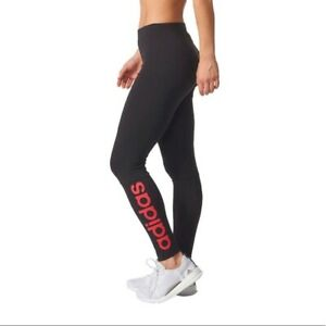 Adidas Womens Linear Tights Navy/Pink Large