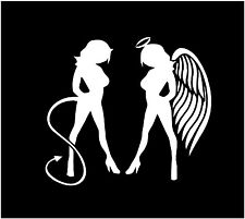 Angel devil vinyl decals, sexy girls sticker