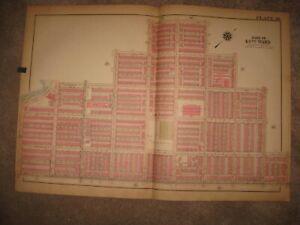 HUGE ANTIQUE 1927 WARD 40 PHILADELPHIA PENNSYLVANIA MAP ANNA SHAW HIGH SCHOOL NR