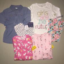 Girls Size 4 4t Carter's Lot Shirt Leggings Pajamas Outfit Set Nwt