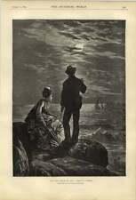 1874 Co Murray OPERA D'ARTE DA PARTE DEL MARE AL CHIARO DI LUNA le classi pericolose Maffia