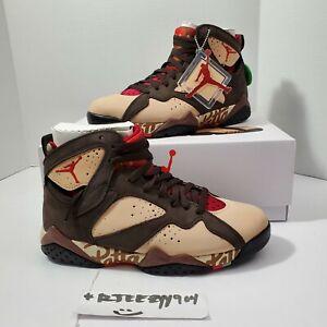 DS Jordan VII 7 Retro OG SP x Patta Shimmer Shoes Men's Size 7.5 AT3375-200
