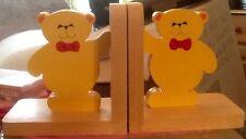 Handmade Wooden Children's Decorative Bookends
