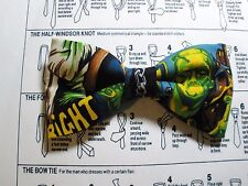 FRANKENSTEIN MONSTER MOVIE BOW TIE DOUBLE LAYER TUXEDO CLIP ON BOW TIE IN USA