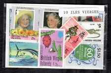 Iles Vierges - Virgin Islands 10 timbres différents
