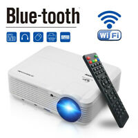 "Projektor Smart WIFI Android Bluetooth Heimkino Beamer HD HDMI+100 "" Bildschirm"