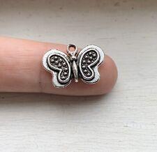 8PCS Antique Silver Butterfly Charm/Pendant 14x21mm