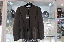 NWT - Giorgio Armani Black with White Stripes Wool Jacket sz44