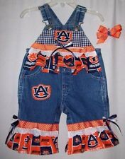 Custom boutique NFL & NCAA little girls overalls all teams all sizes see photos