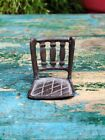 Antique Hand Forged Decorative Collectible Brass Miniature Chair Figure Pattern