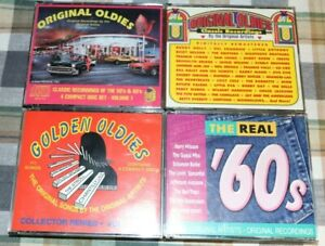 50s 60s Original Oldies CD Lot Classic Recordings 4 CD Sets Golden Oldies