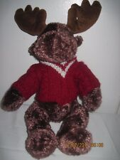 """Wishpets Raynaldo a Moose with Red and White Sweater 16"""""""