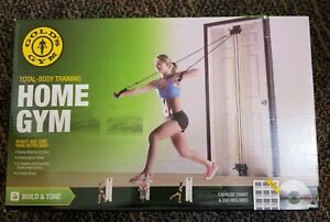 GOLD'S GYM Total Body Training Portable Home Gym, New incl DVD + exercise chart