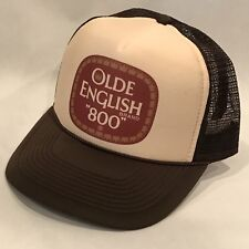 Olde English 800 Malt Liquor Beer Trucker Hat Vintage Snapback Party Cap Brown