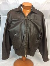 """* Sam Wolf Texas * Distressed """"Butter Soft"""" Brown Leather Jacket 40 Super Rare"""