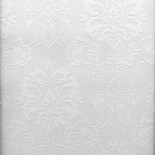 Easy Textures Damask Paintable Wallpaper by Brewster   32808