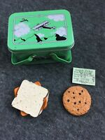 American Girl Kit Retired Metal Lunch box Ticket Cookie Sandwich School with Box