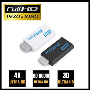 Nintendo Wii HDMI Adapter Konverter Stick Full HD TV 1080p Audio 3,5mm AV-Kabel