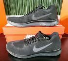 Nike Free RN Flyknit Triple Black Anthracite Mens Shoes 880843-010 Size 11