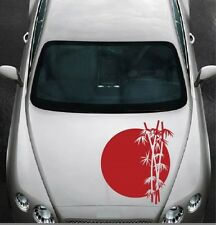 Rising Sun and Bamboo Vinyl Decal Car Hood Sticker Any Vehicle Auto Decor 1059