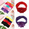 Kids Newborn Turban Flower Bow Headwear Hair Band Head Wraps Baby Headband