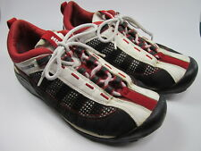 Men's HUMMER Red/Black Suede Mesh Athletic Shoe Size Eur 43 US 10