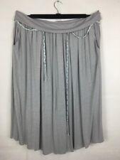 Wrap London Ladies Skirt Size 20 Grey Pocket Linen Viscose Midi *BNWT*