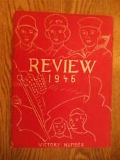Roosevelt Junior High School Yearbook Annual 1946 Review Fond Du Lac Wi.