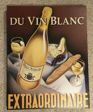 DU VIN BLANC EXTRAORDINAIRE by Steve Forney 27x21 Poster on Canvas-Wine-Bar-Art
