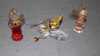 Vintage Angel Christmas Ornament Lot of 3