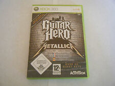Guitar Hero Metallica - Rare ! - Microsoft Xbox 360 - Complet - Occasion - PAL