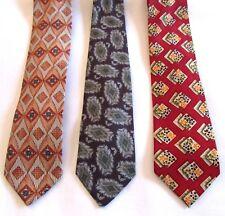 NUEVO 3 Vintage Hombres Corbatas Retro Funky Estampado Multicolor Roberto LONDON