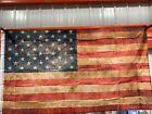 United States American Flag Vintage Antique Distressed Look 34 X 60