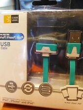 Case Logic  USB Cable 3.5 Feet Aqua Green for IPad, iPhone and IPod