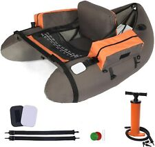 Lazzo Inflatable Fishing Float Tube with Hand Air Pump, Hold up to 286lbs, Flota