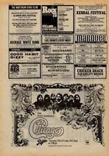 Chicago UK show advert 1973