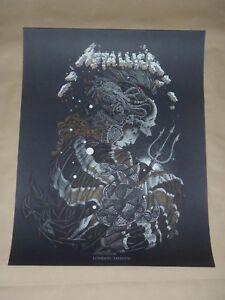 Metallica London poster screen print art Richey Beckett World Wired Pop Up
