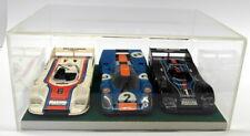 Unbranded 1/24 appx Scale Plastic Porsche 917 3x Le Mans car set + Case