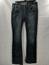 SO Juniors Dark Wash Mid Rise Boot Cut  Stretch Jeans size 7