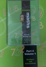 Student Support Centre  Simply maths part 4 volume 1A DVD and workbook new