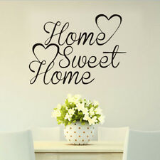Family Quote Wall Sticker Love Heart Home Sweet Home Vinyl Decal For Living Room