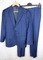 Suitsupply Napoli Men Suit Pure Wool Super 110's Blue size 46 US36