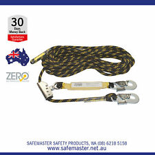 30m Ropeline with Adjuster & Shock Absorber, Fall Arrest Height Safety